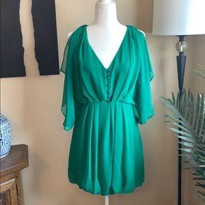 NWT Lavender Brown green chiffon cocktail dress